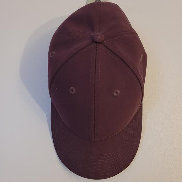 Burgundy Aritzia Baseball cap